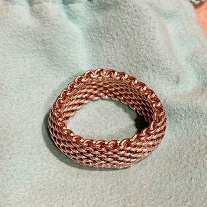Tiffany and Co. Sterling Silver Mesh ring